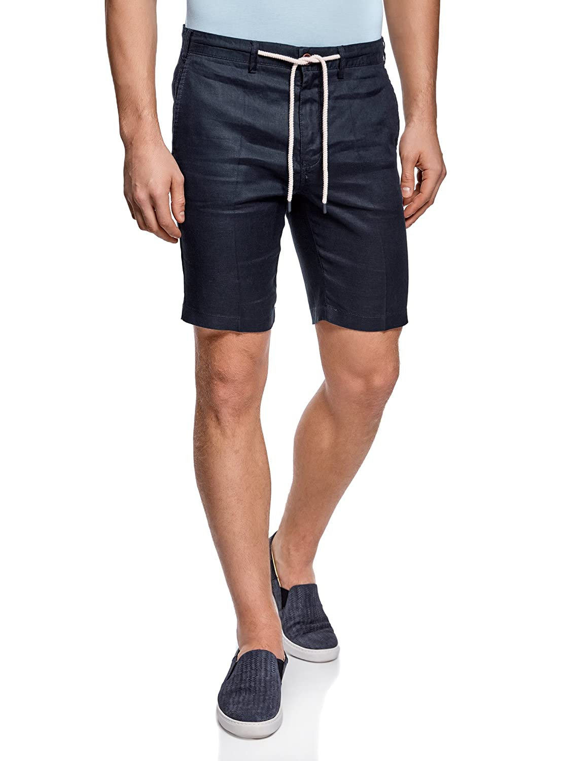 oodji Ultra Men's Linen Shorts with Drawstrings RIFICZECH s.r.o. 2L600012M