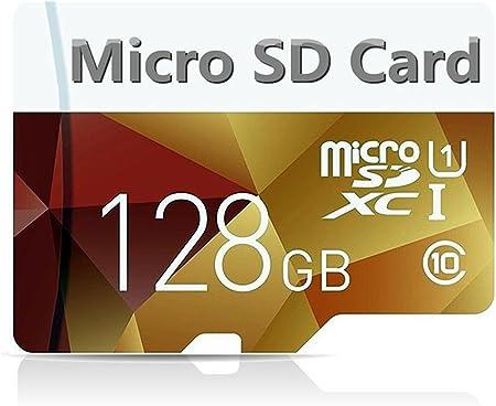 128 GB Hochgeschwindigkeits-Micro-SD-Karte mit 128 GB Entwickelt f/ür Android-Smartphones Tablets Klasse 10 SDXC-Speicherkarte mit Adapter