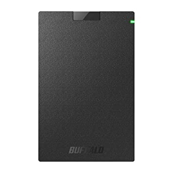 BUFFALO ポータブルSSD 日本製 PS4(メーカー動作確認済) USB3.1(Gen1) 対応 480GB SSD-PG480U3-B/NL 耐衝撃・コネクター保護機構