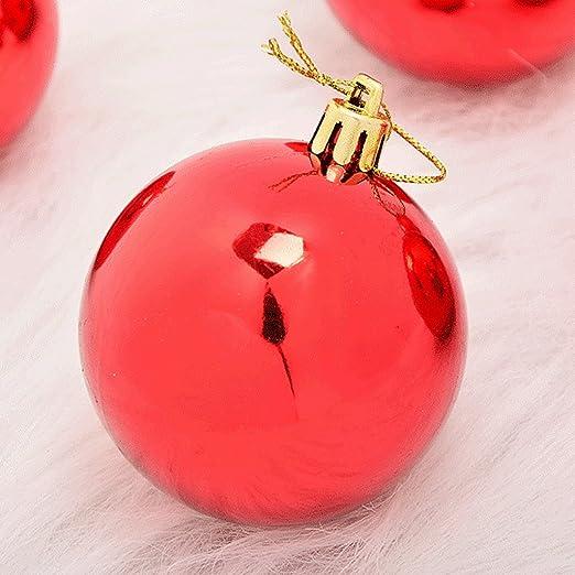 Brillante bola roja de Navidad decoración festiva personalizada ...