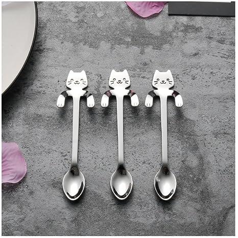 cystyle gato tazas de sopa cuchara cuchara sopera Acero ...