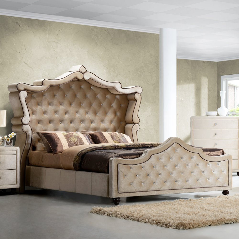 Meridian Bedroom Furniture Amazoncom Meridian Furniture Diamond Canopy Velvet Bed Queen