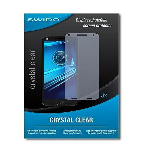 3 x SWIDO® Protector de pantalla Motorola Droid Turbo 2 Protectores de pantalla de película