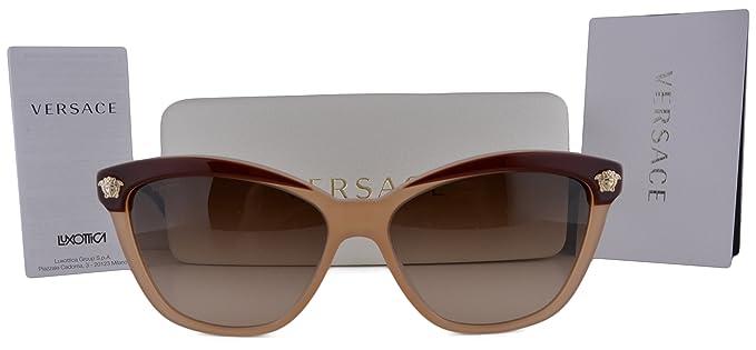 Amazon.com: Versace ve4313 anteojos de sol café Beige w/café ...