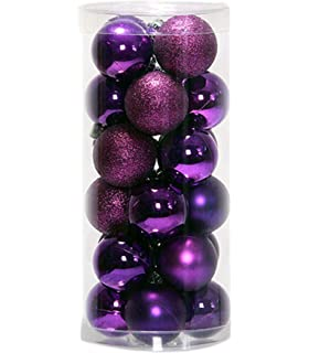 prudance 24ct christmas balls ornaments multicolor decorations tree balls for holiday wedding party decoration157