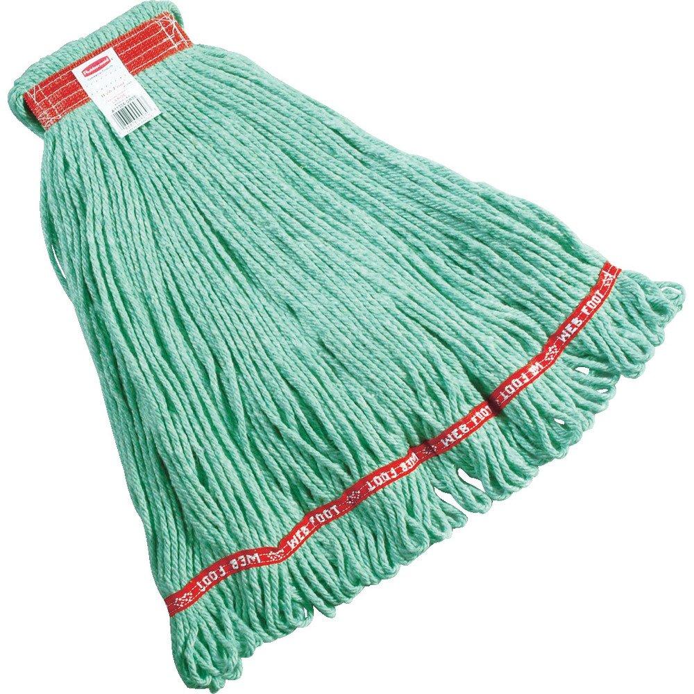 Rubbermaid Commercial Web Foot Shrinkless Mop, Green by Rubbermaid Commercial Products