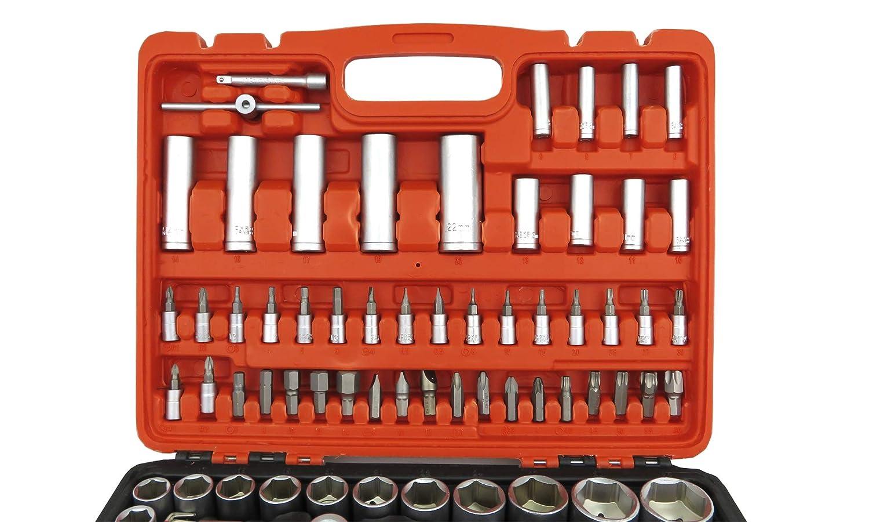 Malet/ín de Herramientas 108 piezas con llaves de vaso CARRACAS destornillador