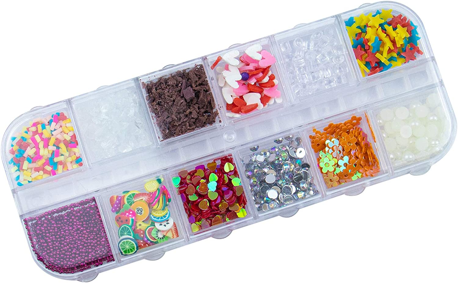 AUEAR, 12 Colors Fake Candy Sweets Sugar Chocolate Ice Sprinkles Decorations for Fake Cake Dessert Simulation Food Slime Kit DIY Crafts (Style B)