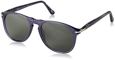 82312d8de0 Image Unavailable. Image not available for. Colour  Persol 9649 Sunglasses  1015 58 Transparent Cobalto Blue   Green Polarized ...