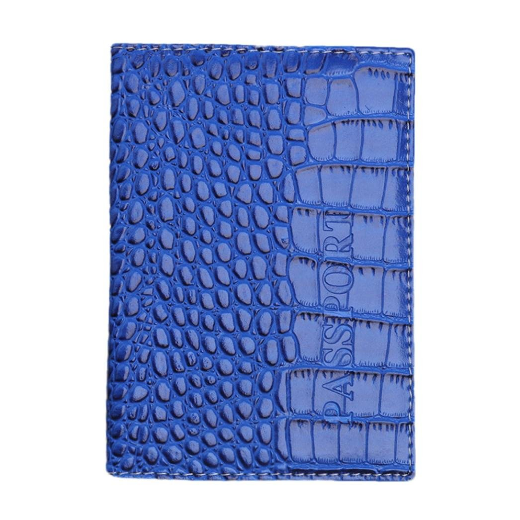 Pocciol Women Love Bags, Womens 2018 Newly Soft Touch Leather Passport Holder Protector Wallet Business Card Passport Cover (Blue)