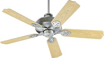 """Quorum 9 Hudson Patio Galvanized 52"""" Outdoor Ceiling Fan"""