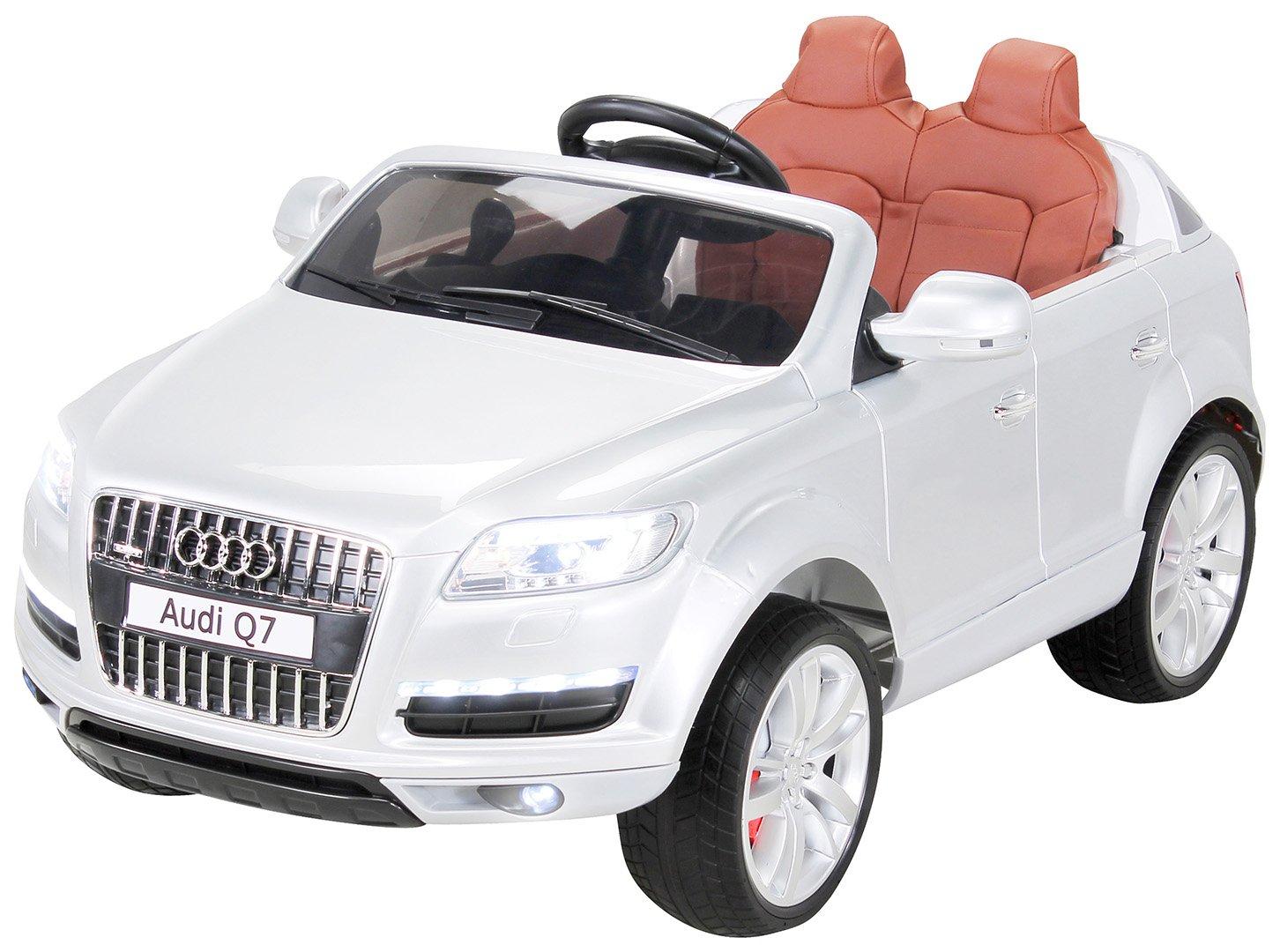 Actionbikes Niños Coche eléctrico Audi Q7 SUV con Licencia Pintado - Plata
