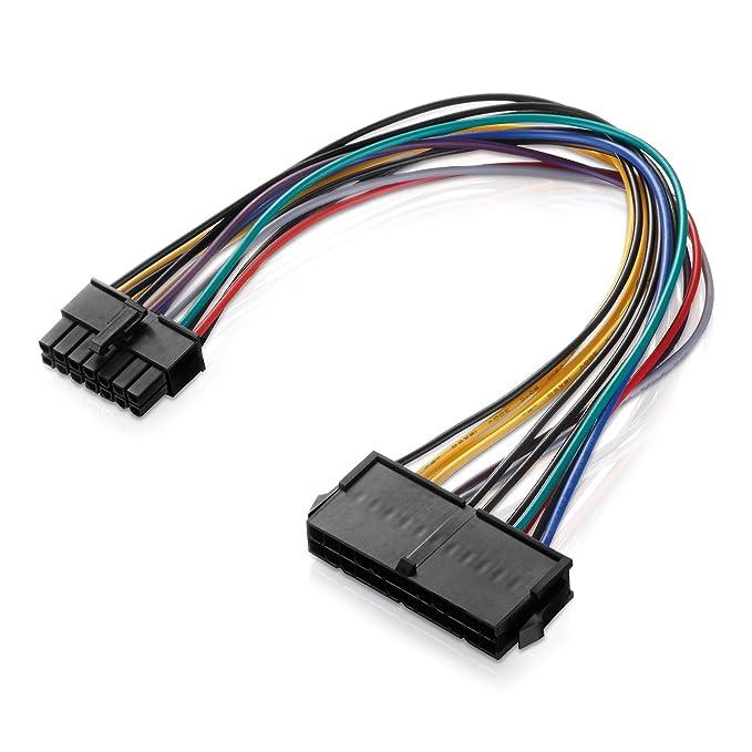 Adaptare 35003 ATX-Stromadapter Netzteil für Lenovo Medion 14-polig Mainboard (30 cm (11,8 Zoll), 24-polig): Amazon.es: Informática