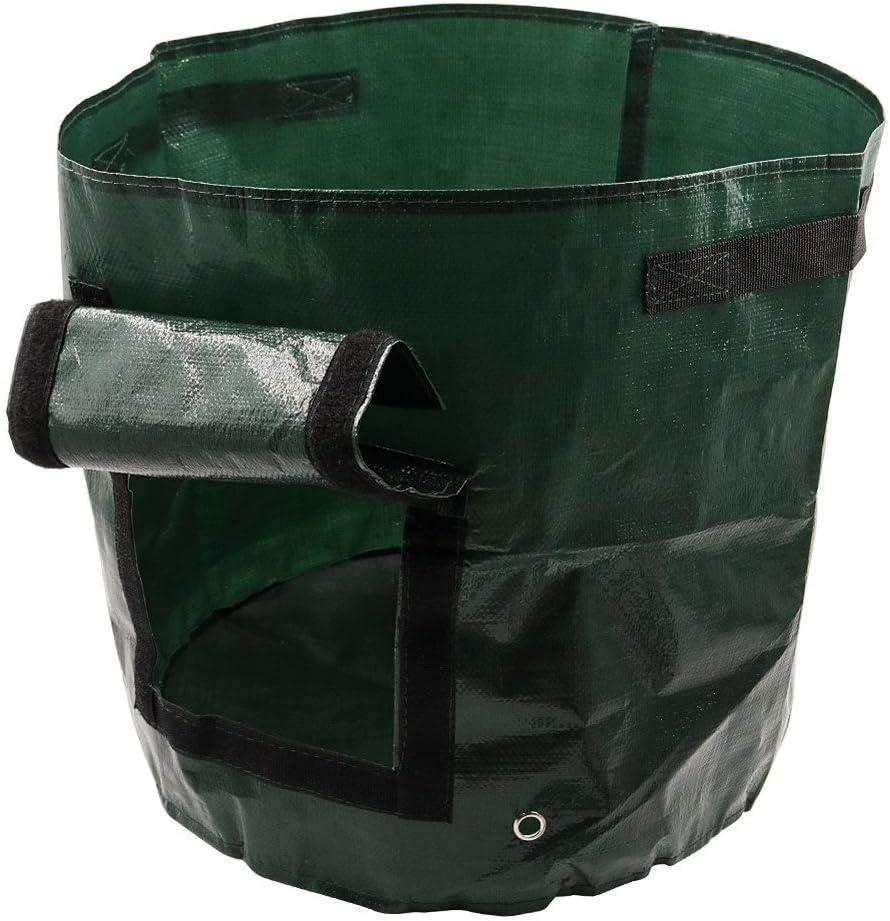 DIY Potato Grow Planter PE Cloth Planting Container Bag Thicken Garden Pot QIUUE Garden Planting Bag with Door Green