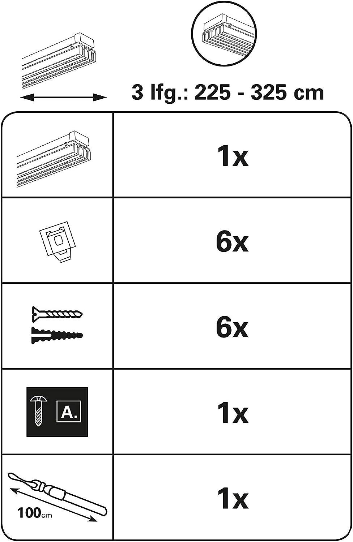 2 binari con Accessori Gardinia Set Completo per Tende a Pannello Emia  140-225 cm Alluminio allungabili Decorazioni per interni damianibroodjes  Accessori per tende e tendine