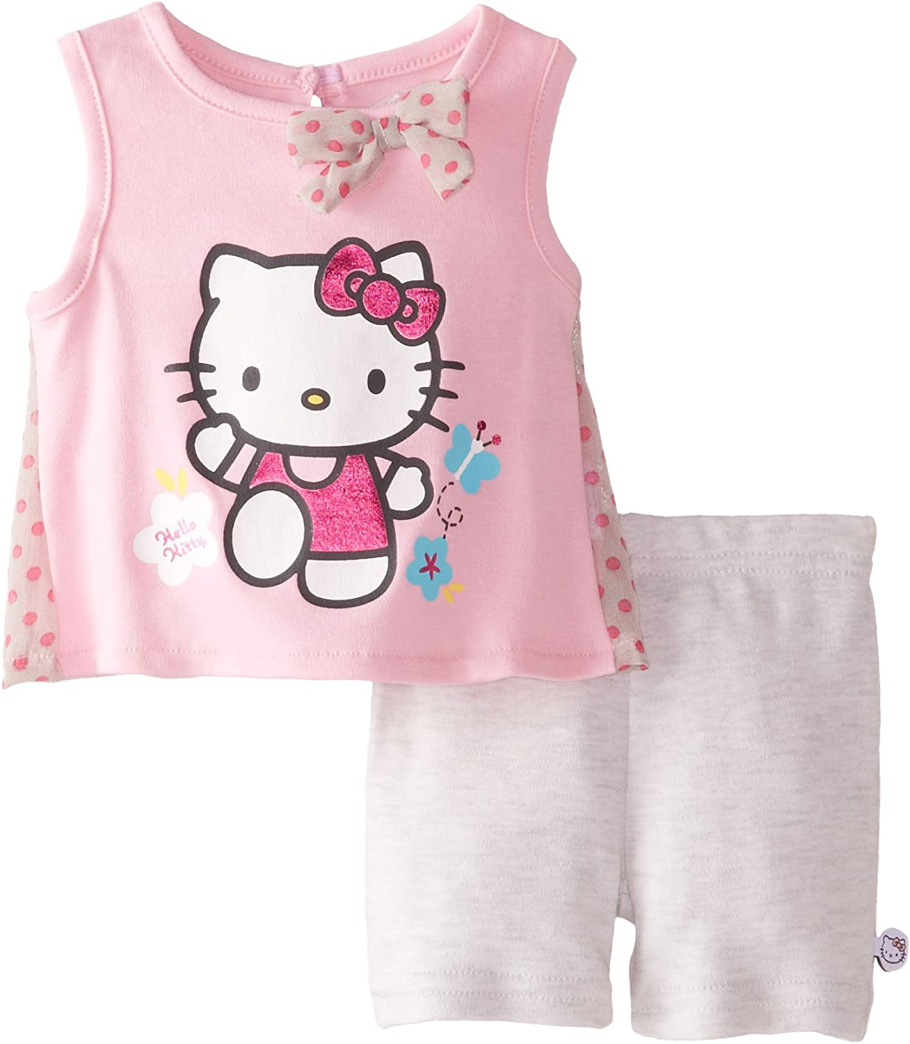 Hello Kitty Girls Cycling 2 Pcs Outfit Clothing Set