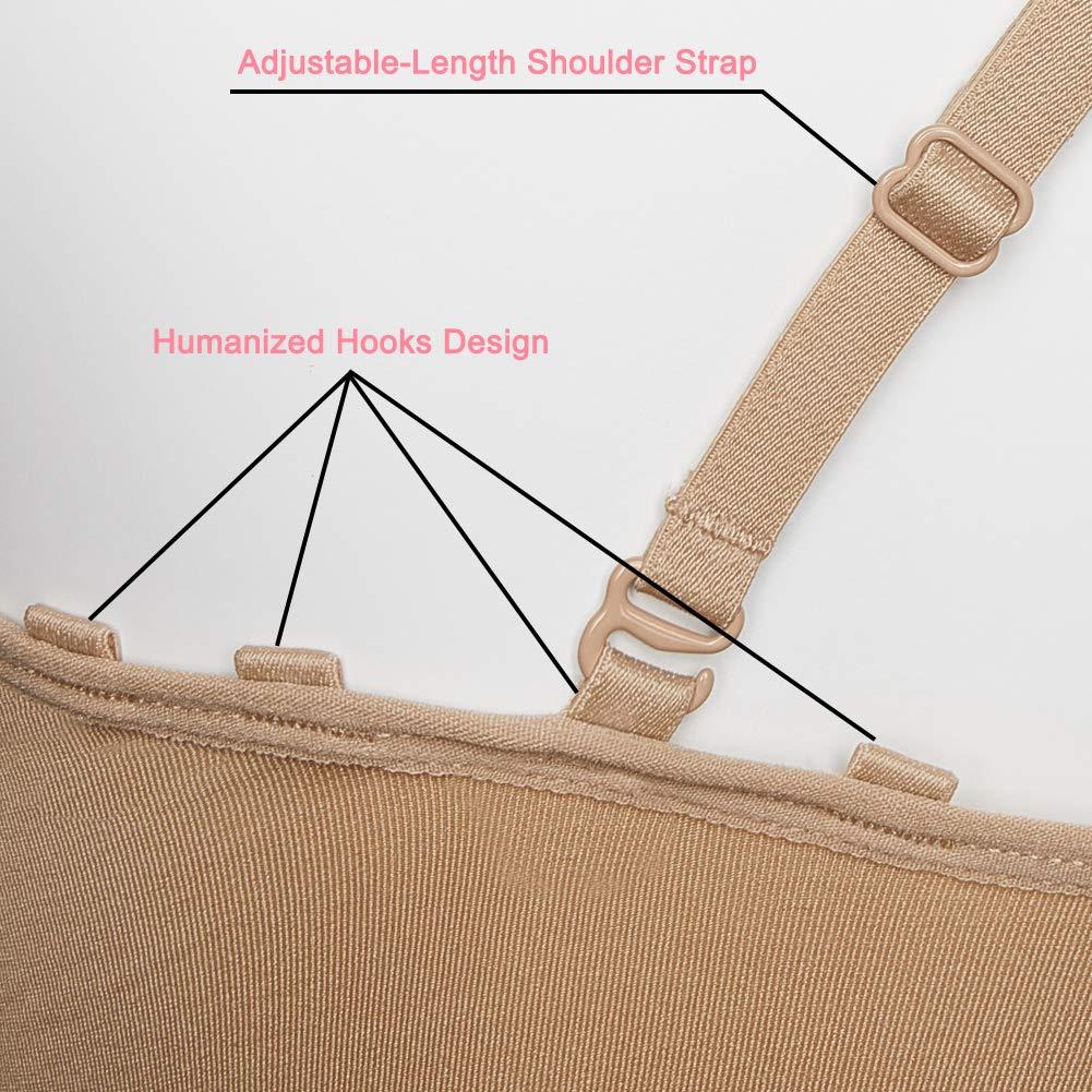 ICOSY Girls Nude Ballet Leotard Seamless Camisole Undergarment with Bonus Clear Straps for Dance//Ballet//Gymnastics