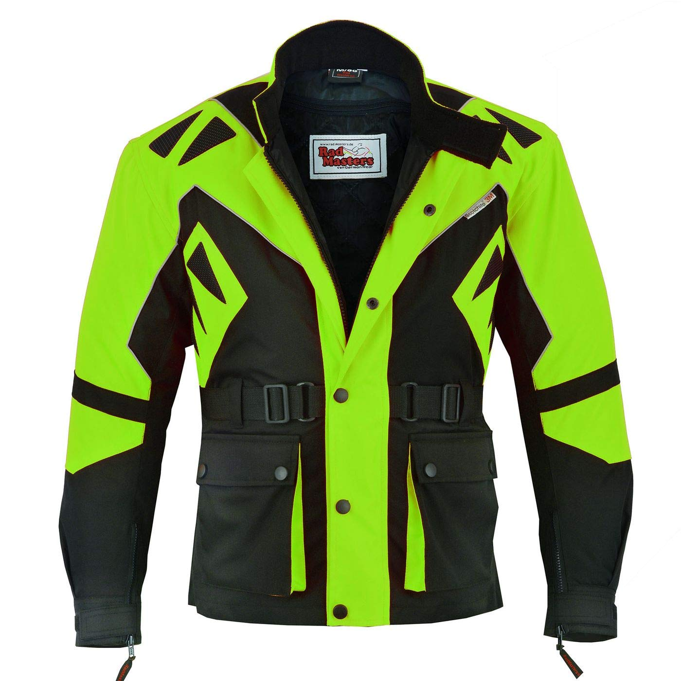 German Wear Textilien Jacke Motorradjacke Kombigeeignet Gr/ün 48//S