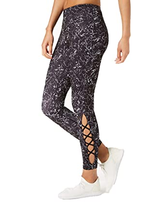 2afc93bb3 Ideology Women s Printed Lattice-Detail Ankle Leggings at Amazon Women s  Clothing store