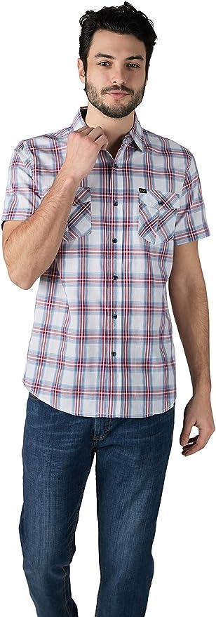 Lee Camisa de manga corta con botones para hombre | Camisa de ...