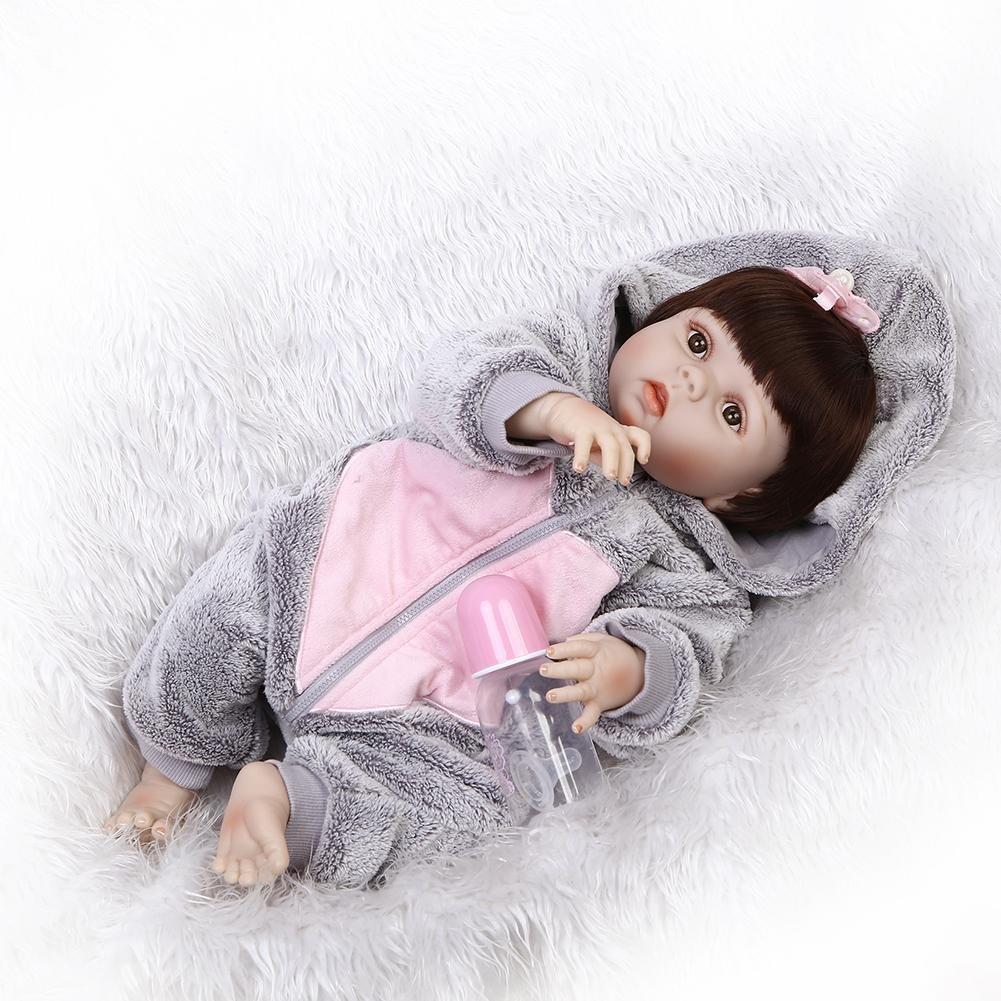 chinatera Kids Toys NPK Artificial Soft Silicone Reborn Baby Dolls Simulation Lifelike Infants Doll by chinatera (Image #4)