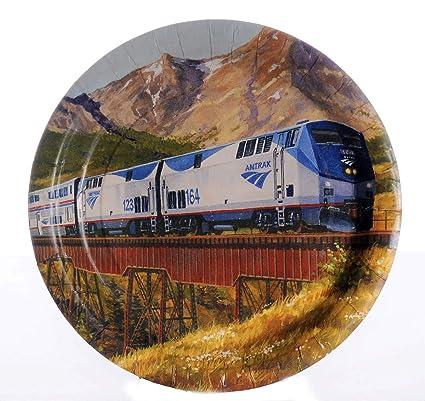 Amazon.com: Platos de cena para fiesta de tren de Amtrak (8 ...