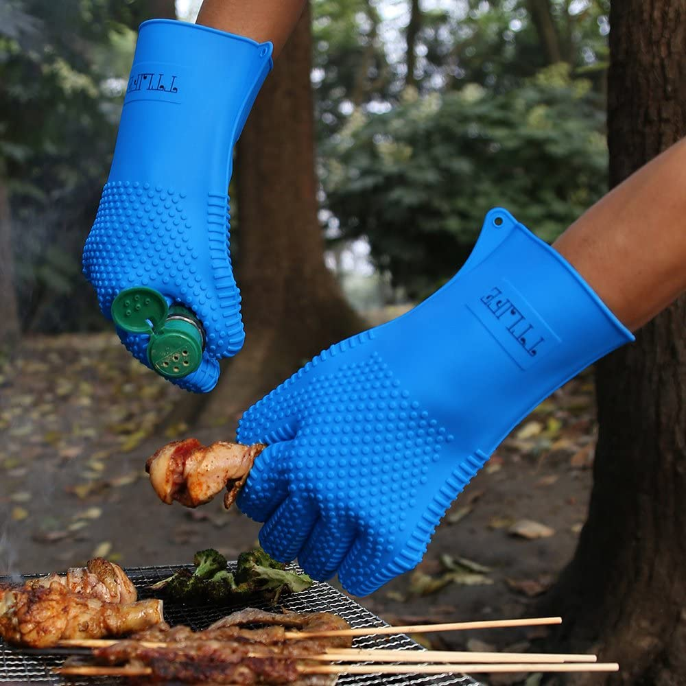 guantes de silicona para barbacoas