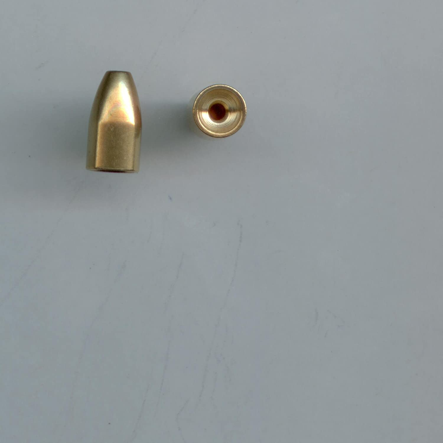 Bullet Weight Diamond Polished Brass Sinkers