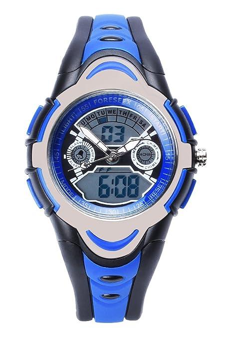23 opinioni per FSX-212G sport digitale analogico dual time LED resistente all'acqua Orologio da