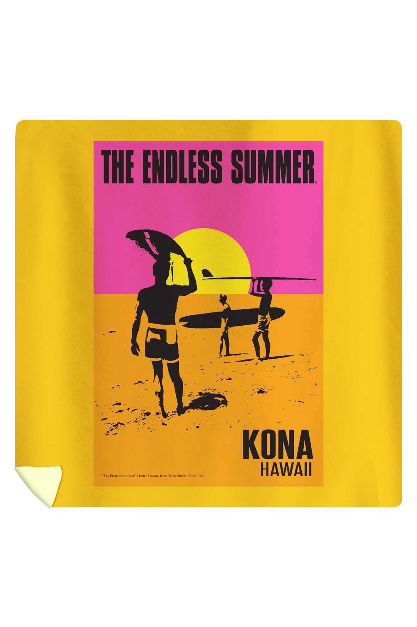 Kona, Hawaii - The Endless Summer - Original Movie Poster (88x88 Queen Microfiber Duvet Cover)