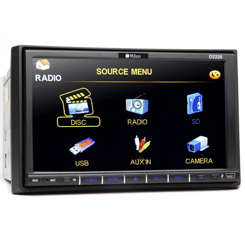 71hz6ocvcWL._SL1500_ amazon com milion 7 inch double din in dash car head unit monitor  at crackthecode.co
