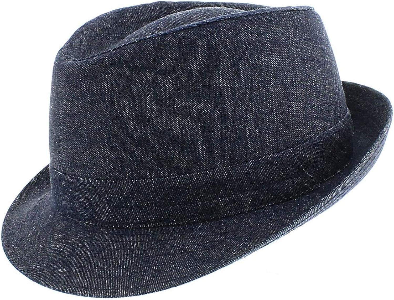 Jeans Ankone Votrechapeau Trilby Hut mit kleinem Rand