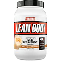 Labrada Nutrition Lean Body Hi Protein Meal Replacement Shake, Salted Caramel, 1.12 Kg