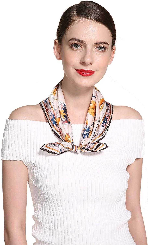"""100/% Silk 20/"""" small Square Scarf Women neckerchief Wrap Striped white red JH18-3"""