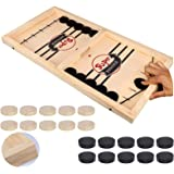 Fast Sling Puck Game, Table Desktop Battle Ice Hockey Game/ Winner Board Chess Games for Adults and Kids