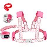 Blisstime 2 in 1 Reflective Toddler Leash -Anti Lost Wrist Link for Toddlers -Toddler Harness,Baby Leash,Leash for Toddlers,W