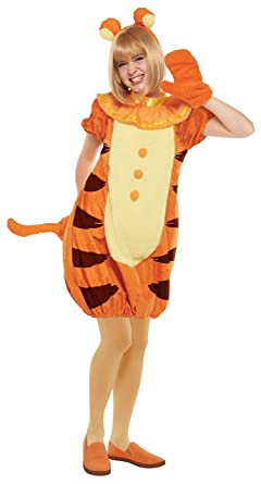 41c096cae541 Amazon.com  Disney Winnie the Pooh - Tigger Costume - Teen Women s ...