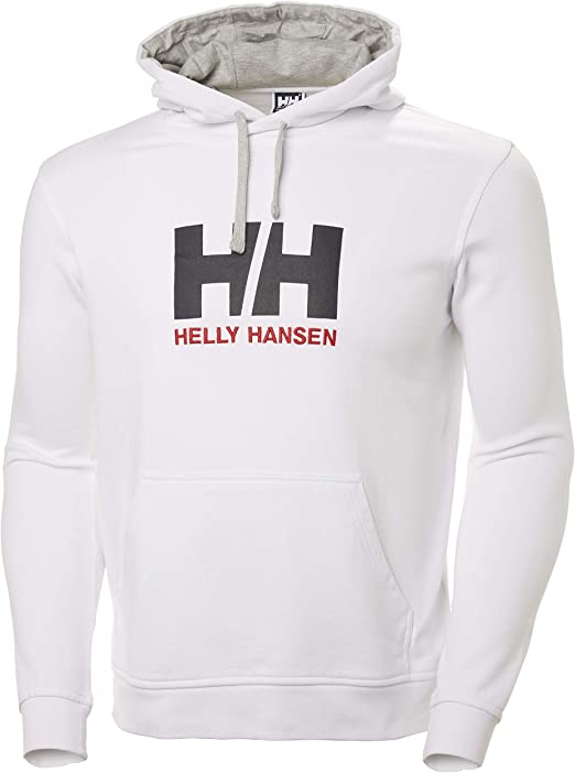TALLA S. Helly Hansen Logo Hoodie HH Sudadera con Capucha, Hombre