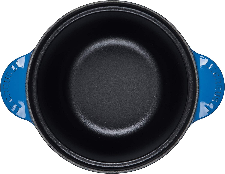 Le Creuset Vaso di riso in ghisa smaltata con manopola SS e inserto in gres porcellanato 2,25 qt Marsiglia