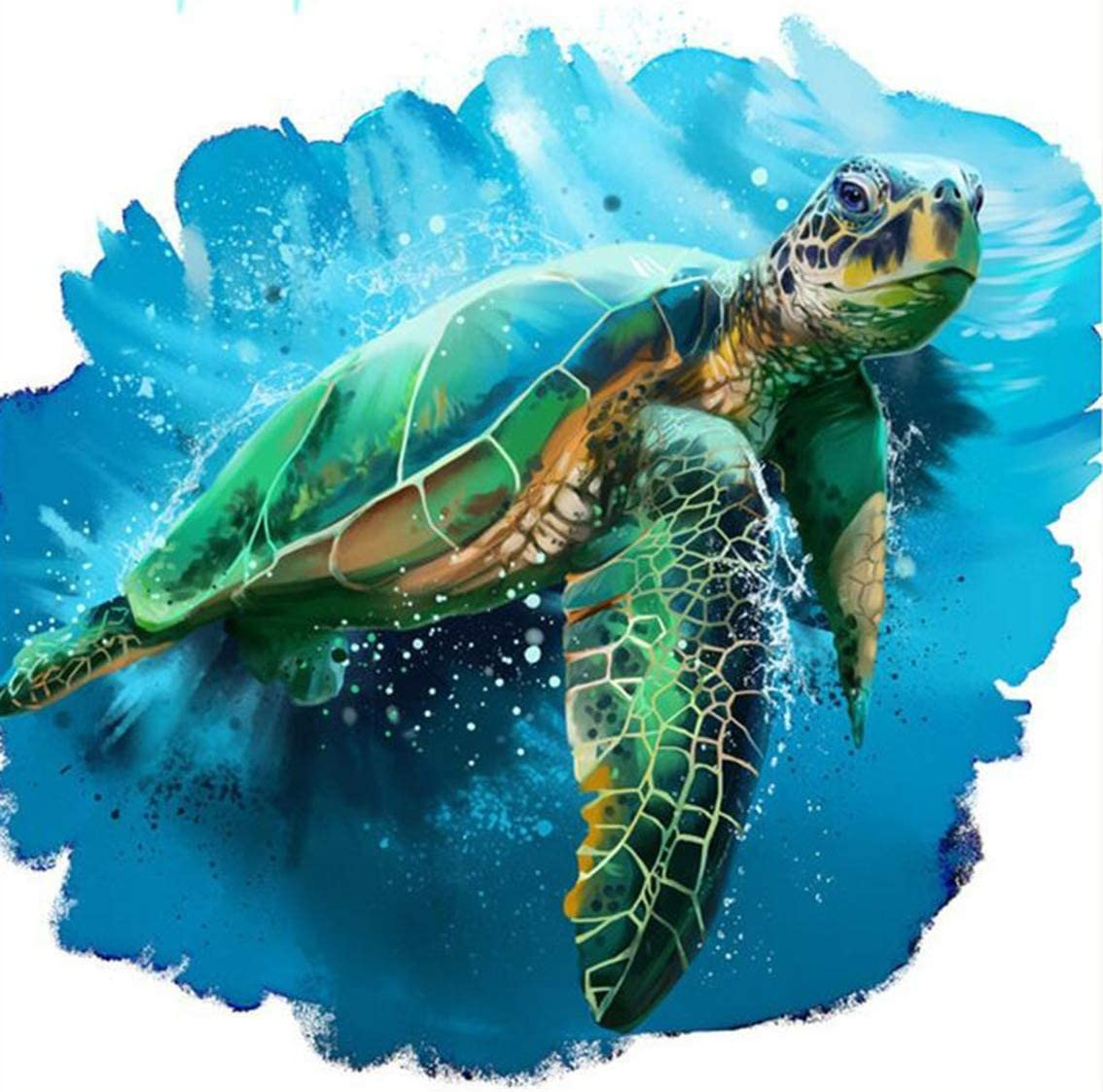 Turtle Animals Oil Painting By Numbers Art Figure Drawing Canvas Home Decoration