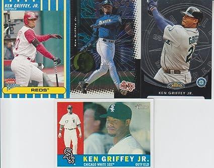 reputable site bd64b 22b17 Ken Griffey Jr. 4 Card Lot Finest #44, 52, 65, 200 at ...