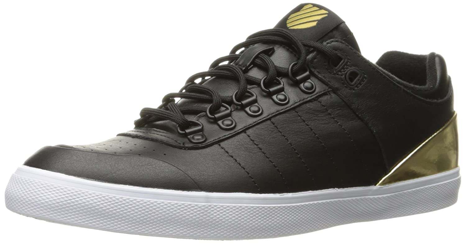 K-Swiss Women's Gstaad Neu Sleek Fashion Sneaker B01K8UBETM 8.5 M US|Black/Gold/Eggnog