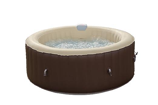 Jbay.Zone 7150017 bañera Jacuzzi Hinchable eléctrica, 800 Liters, Negro, 180 x 180 x 65 cm