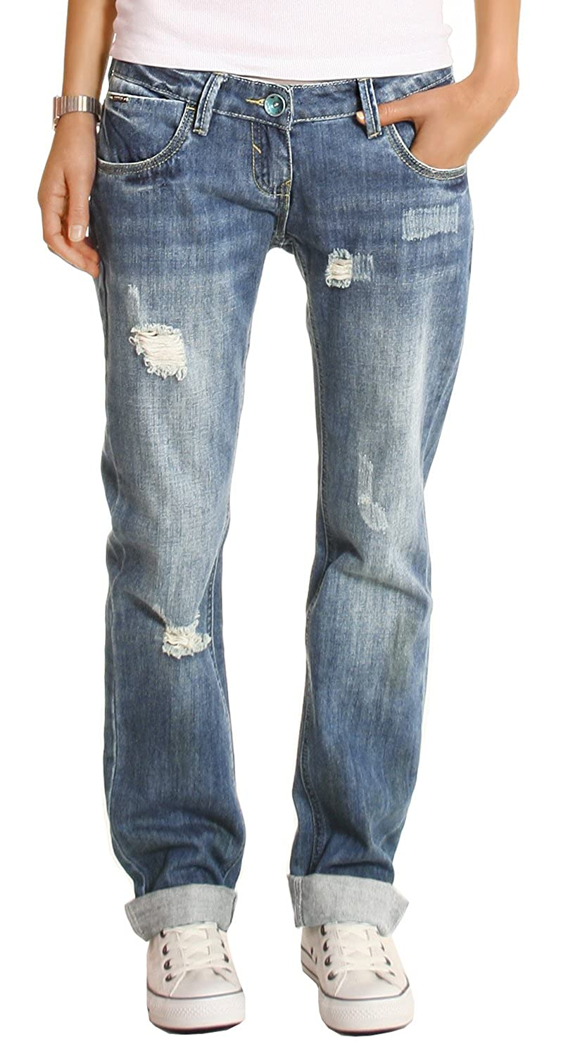 Bestyledberlin Damen Jeans Hosen, Baggyjeans, Damen Boyfriendjeans, Hüftjeans  j1z: Amazon.de: Bekleidung