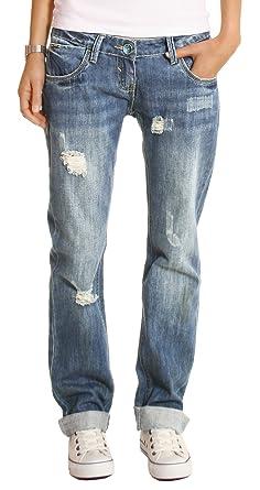 bce4c67679b28 n.n. Women s loose-fit boyfriend jeans j1z  Amazon.co.uk  Clothing