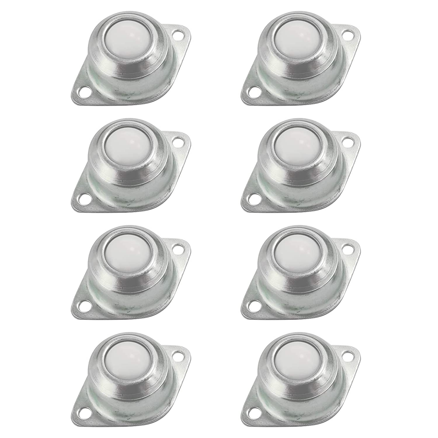8 pcs Transfer Bearing Ball Nylon Ball Transfer Bearing Ball Bearing Transferring Ball Wheel Stainless Steel Nylon Transport Roller with Screwdriver and Screws for Transmission Furniture Wheelchair