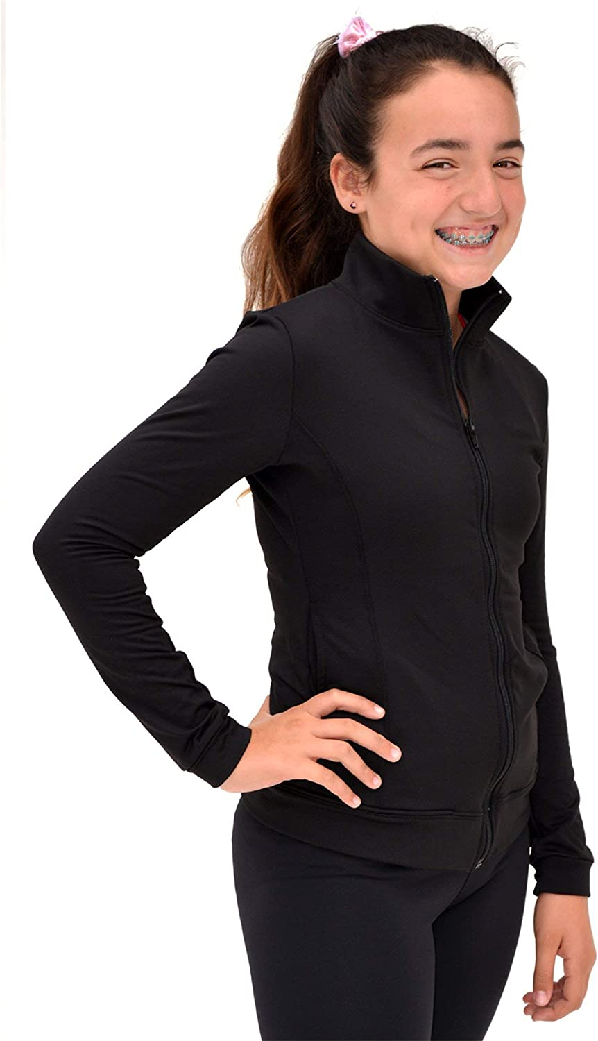 Stretch is Comfort Girl's and Women's Dance Cheer Cotton Warm Up Jacket