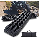 IKURAM Recovery Boards Traction Tracks Mat, 2 Pcs Traction Boards Offroad with Bag for 4X4 Jeep Off-Road Mud, Sand, Snow…