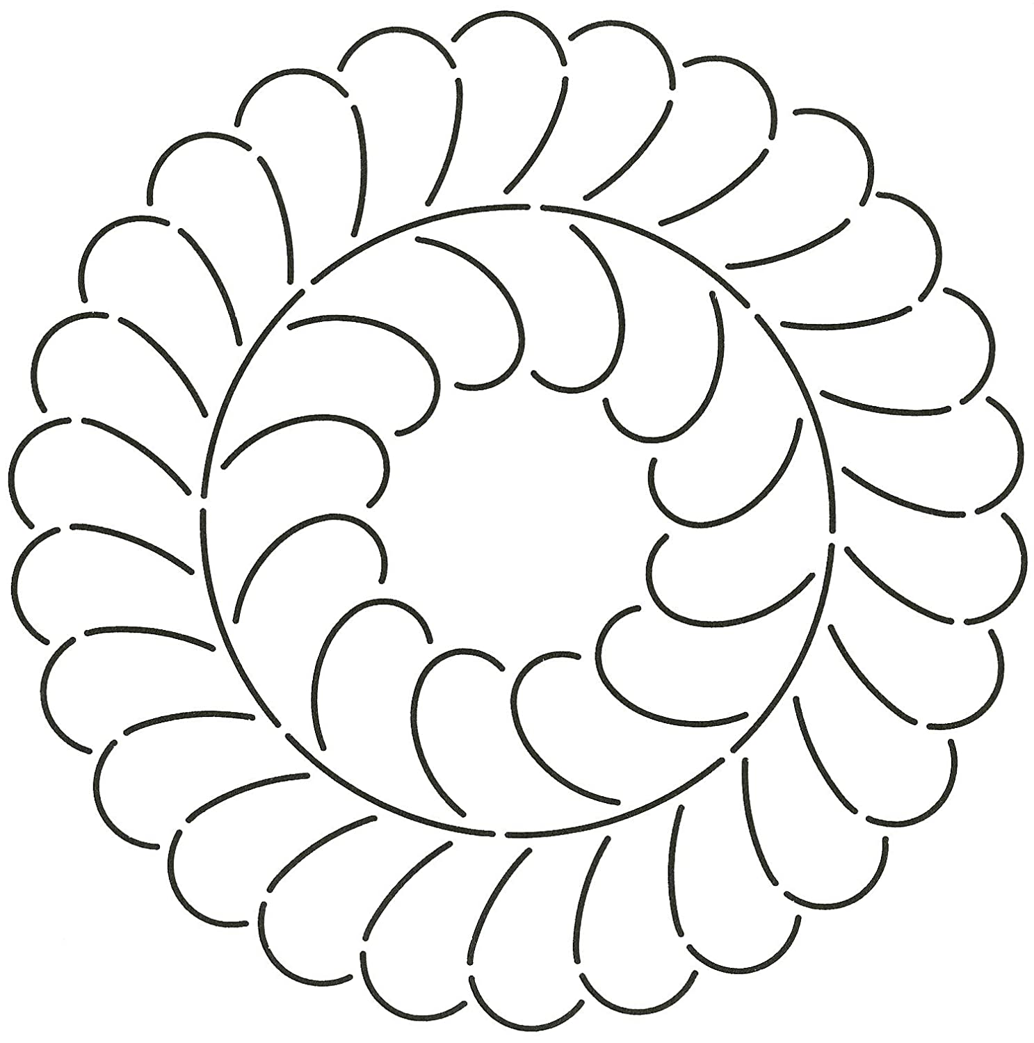 Quilting Creations Feather Circle Quilt Stencil, 10 10 241QC