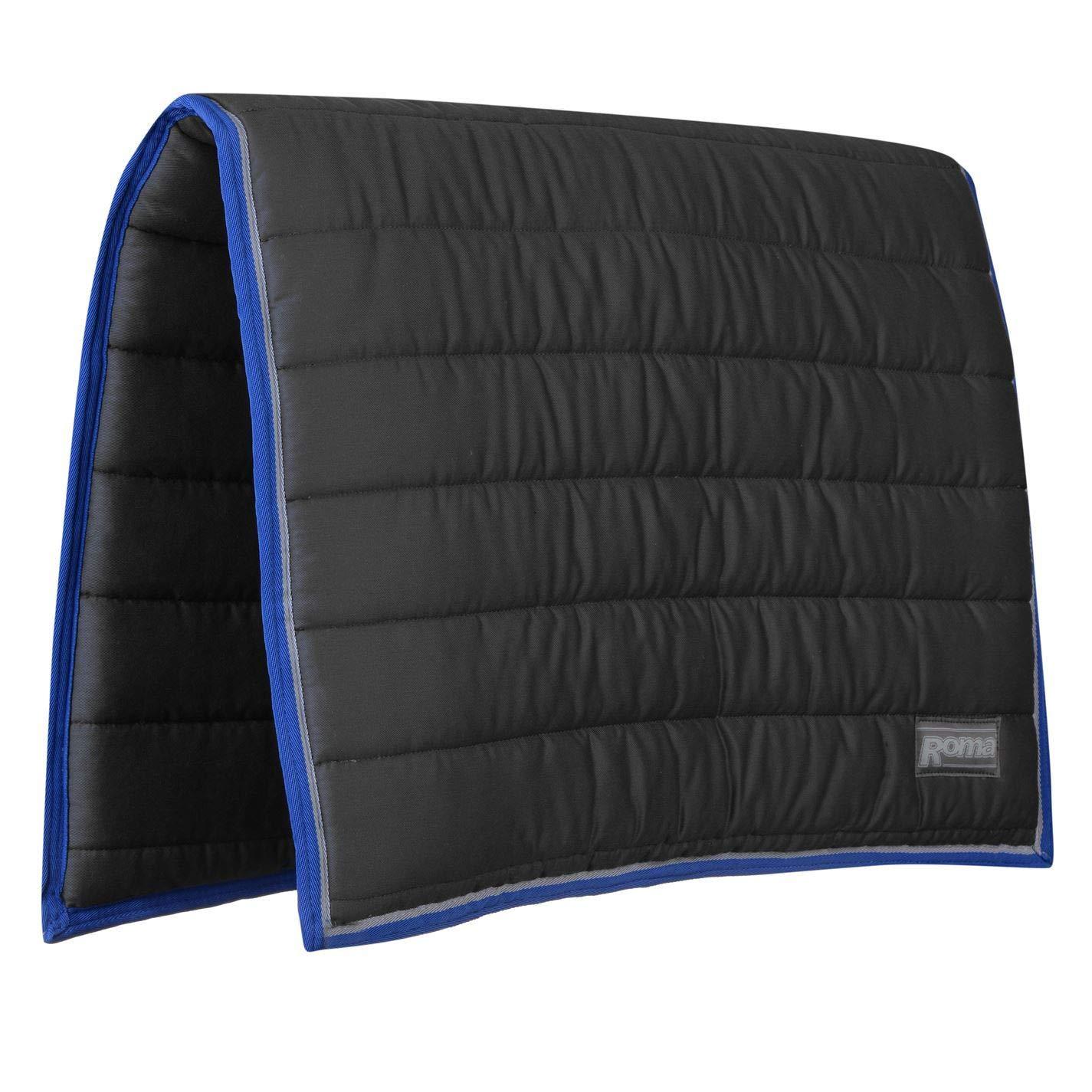 Grey bluee FullRoma Comfort Saddle Pad Numnah Cloth Horse Riding Tack